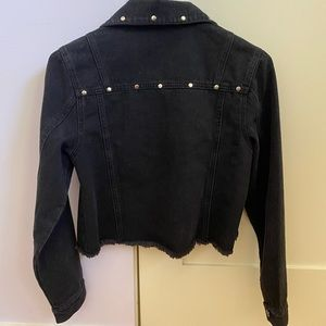 Dolls Kill Jackets & Coats - Cropped black denim jacket
